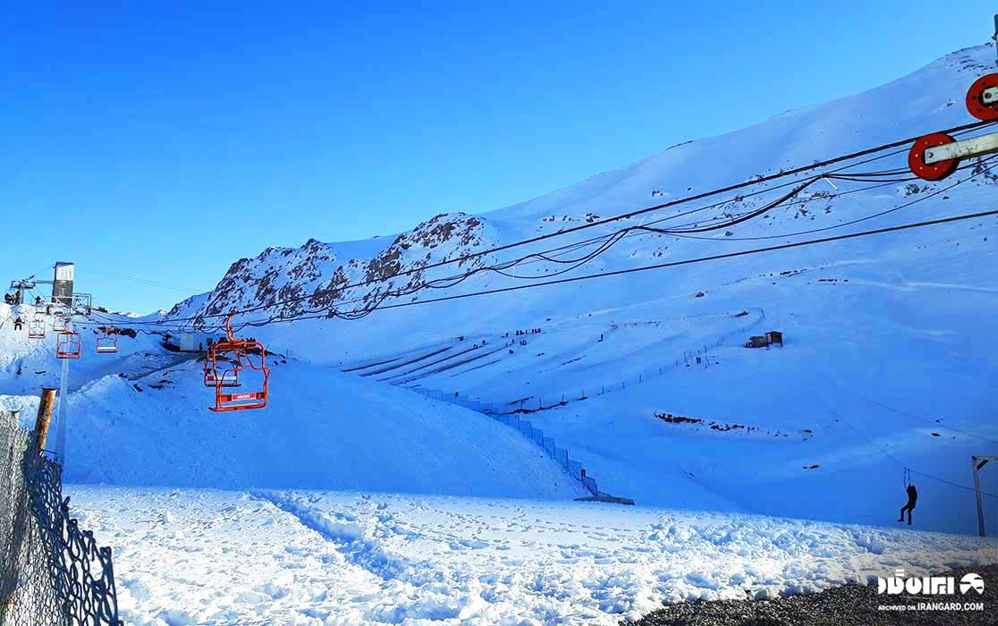 بهترین پیست اسکی ایران - پیست اسکی فریدونشهر