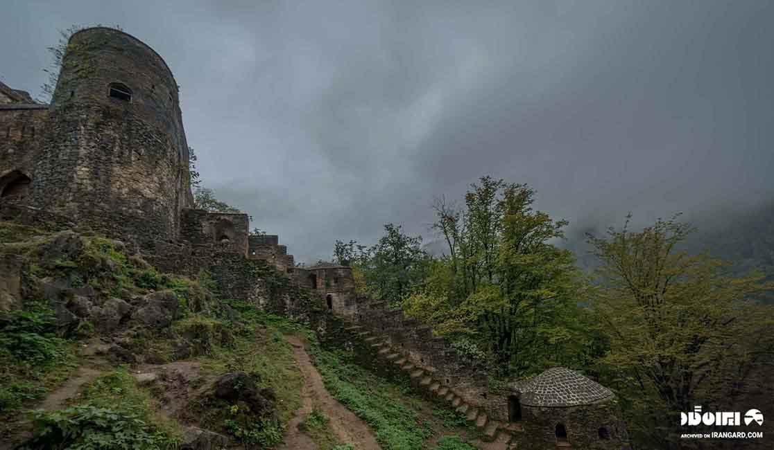 قلعه باستانی رخون در استان گیلان