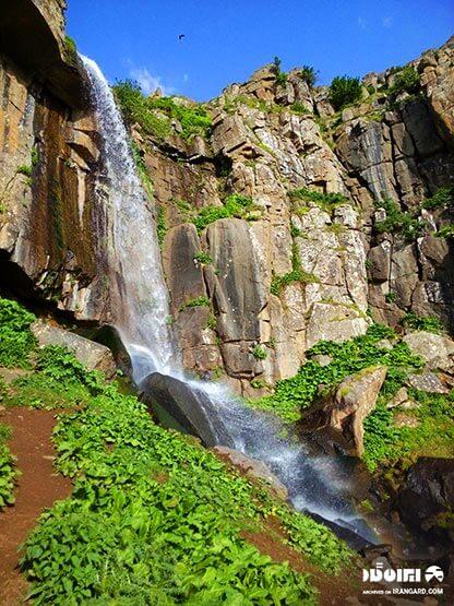 آبشار ورزان در ییلاق سوباتان