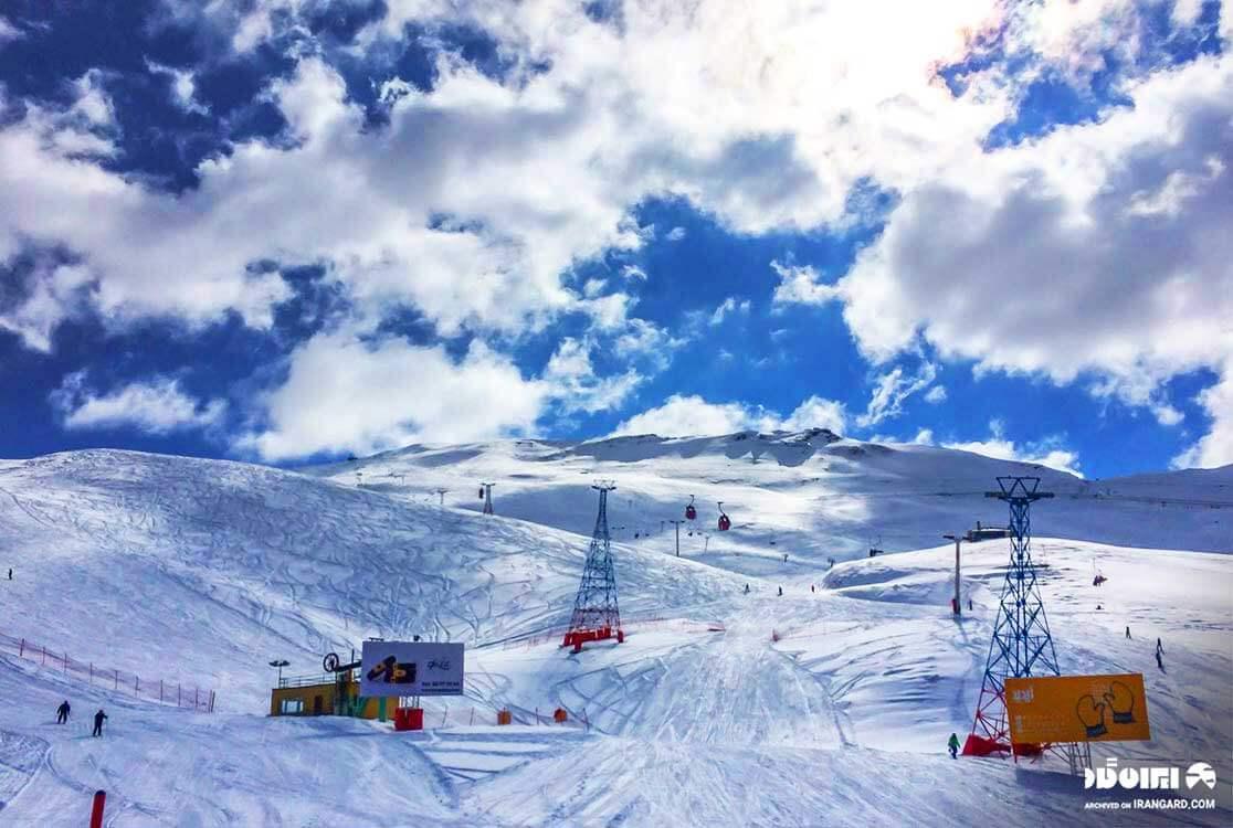 بهترین پیست اسکی ایران - پیست دیزین