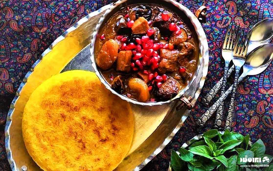 غذاهای سنتی گیلان - خورش آلو مسما