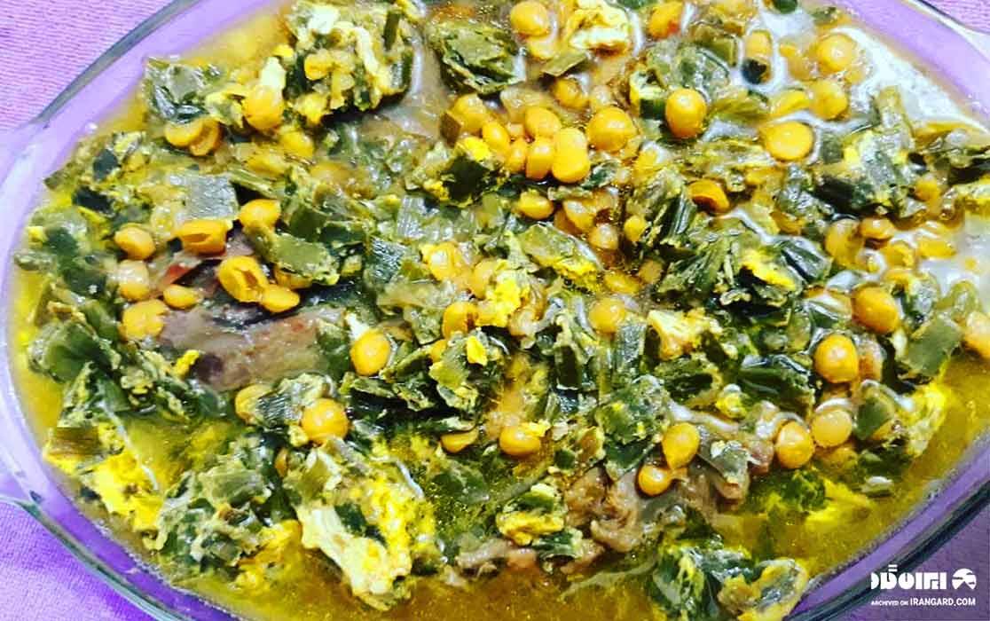 غذاهای محلی گیلان - سیر قلیه