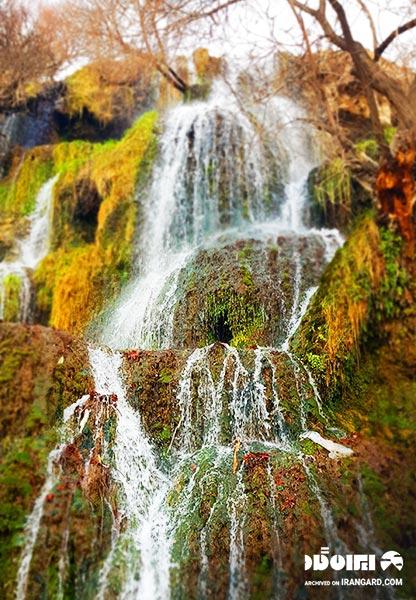 آبشار شهر نیاسر از توابع کاشان