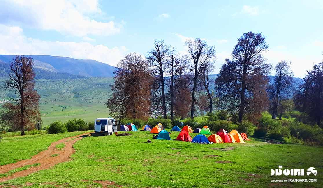 کمپ زدن در ییلاق