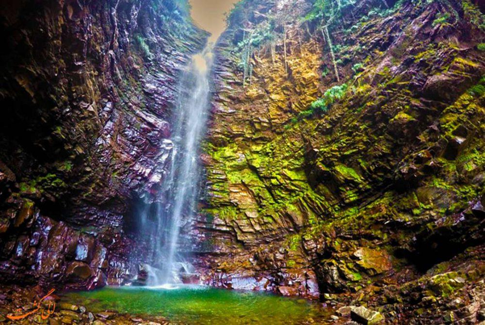 آبشار زیبای گزو کجاست؟